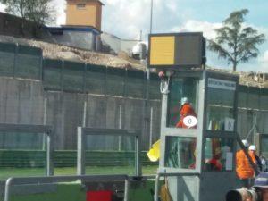 Monitoraggio della Bandiera Elettronica sopra la postazione del Marshall alla partenza.