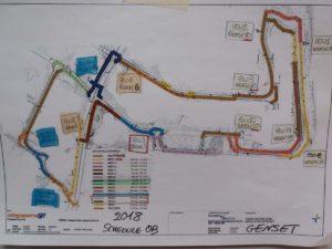 Tracciato del Circuito di F1 di Singapore con posizionamento delle PGU Area