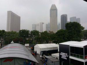 Panoramica dal tetto del Pit Building (zona antenna TETRA), si può notare la control room della FOM a sinistra e l'inizio del paddok a destra!