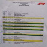 Programma Eventi - Sabato 15 settembre. L' ON-AIR sta ad indicare che l'evento deve essere diffuso in pista (la radiocronaca dell'evento viene effettuata dalla GP TV Singaporiana)