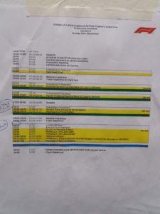Programma Eventi - Domenica 16 settembre. Il giorno più importante, intenso ma anche stressante quello della gara vera e propria di F1