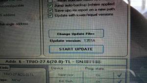 Software per update del firmware di un inverter TRIO da 27.6KW