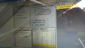 Sempre schermata di update del firmware di un inverter TRIO 27.6KW