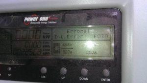 Errore E030 su inverter di stringa Power-One