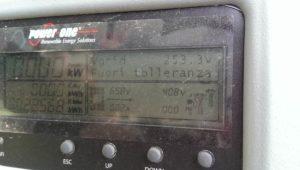 Display di Inverter di stringa Power-One funzionante correttamente