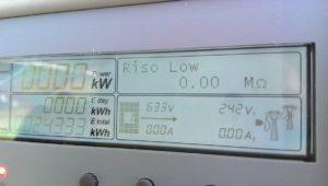 Display inverter ABB con problema sulla Resistenza di Isolamento (RISO) che qua è 0.