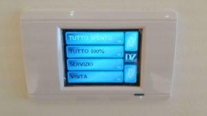 DZ-Touch, sistema di controllo touch per selezionare il tipo di illuminazione dell'ambiente