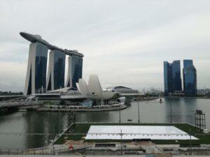 Foto della baia di Singapore
