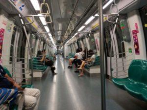 Interno della Metro di Singapore!