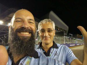 I 2 boss della PA felici alla fine del Gran Premio!