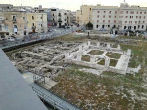 Resti archeologici di S.Scolastica nella parte esterna della struttura