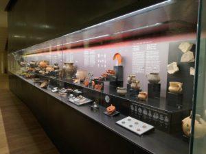Teca con reperti archeologici