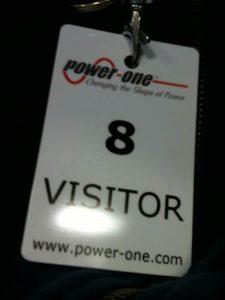 pass VISITOR per corso su inverter Power-One