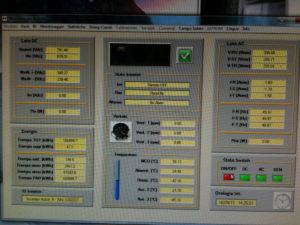 Software di monitoraggio di un inverter modulare da 55KW.