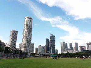 Foto fatta dal PADANG grande zona verde dove avevamo una PGU area e dove si tengono durante i giorni del GP i principali concerti!