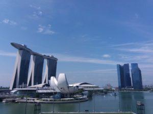 Foto della Manina Bay Sand dalla tribuna di fronte al floating!
