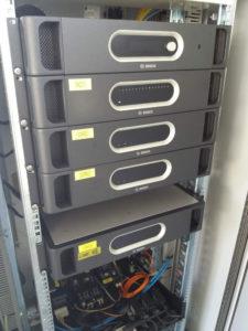 Frontale del sistema di Amplificazione BOSH di una sezione del circuito in una PGU Area!