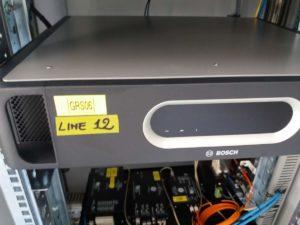Particolare di apparato di amplificazione BOSH del sistema PA