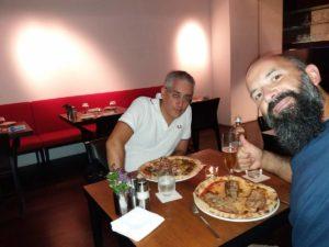 Serata pizza col collega Giuseppe!