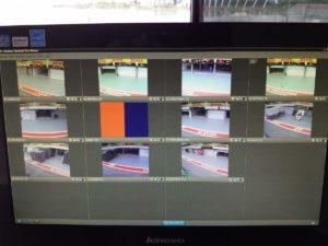 Monitor di alcuni studi televisivi dove abbiamo settato le telecamere che danno sui vari box!