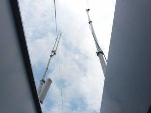 Antennne dei team montate di fianco all'antenna del TETRA!