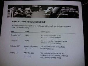Programma della  Press Conference